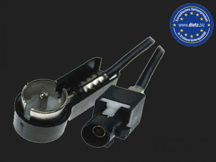 Dietz Antennenadapter FAKRA Stecker - ISO Stecker