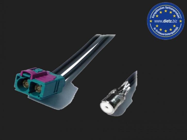 Dietz Antennenadapter TWIN FAKRA Buchse - ISO Buchse
