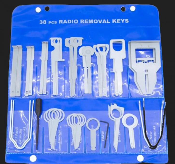 BOA Entriegelungswerkzeuge für Radios / Tasche mit 38 Werkzeugen