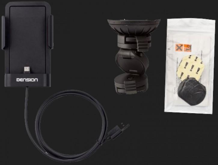 DENSION Ladehalterung für Smartphone mit Micro-USB