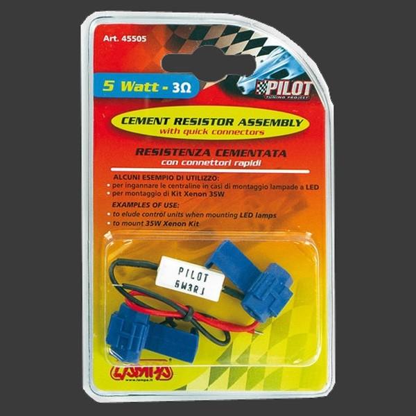 Pilot Widerstand  5 Watt 3 Ohm ( Für Standlicht-Rücklicht-Innenraumleuchten )