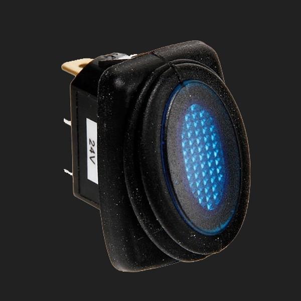 Lampa 12/24V Kippschalter mit blauer LED 10 Ampere