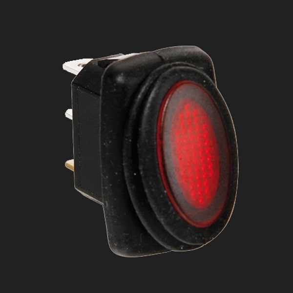 Lampa 12/24V Kippschalter mit roter LED 10 Ampere
