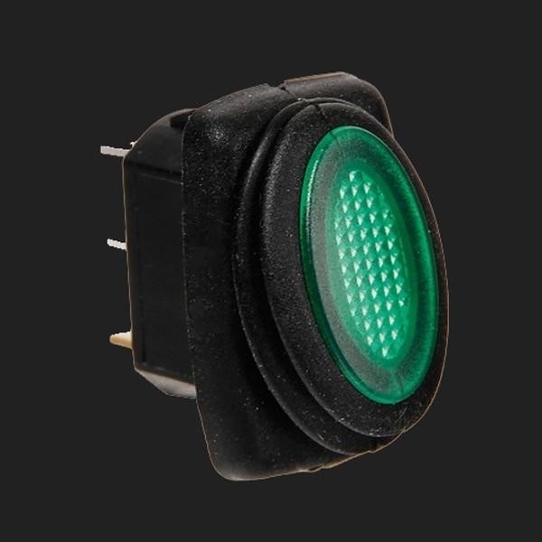 Lampa 12/24V Kippschalter mit grüner LED 10 Ampere