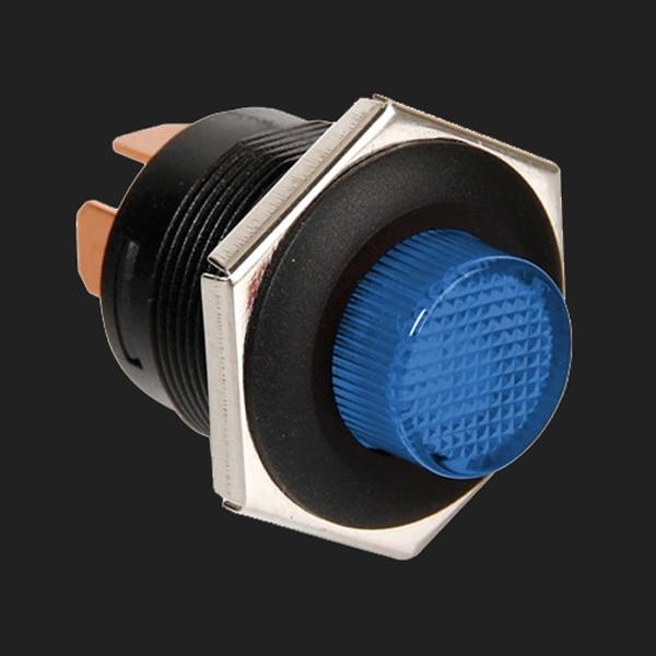 Lampa 12/24V Druckschalter mit blauer LED 5 Ampere