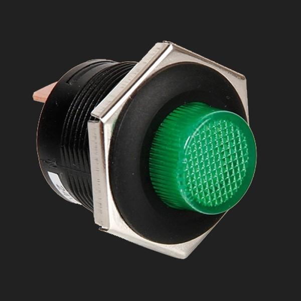 Lampa 12/24V Druckschalter mit grüner LED 5 Ampere