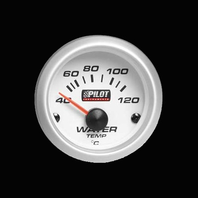 Pilot Zusatzinstrument Kühlwassertemperatur Anzeige 52mm blau 12V