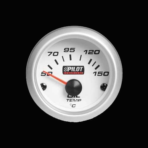Pilot Zusatzinstrument Öltemperatur Anzeige 52mm blau 12V