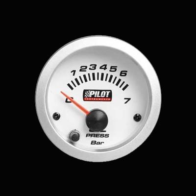 Pilot Zusatzinstrument Öldruckmesser 52mm 7-Farben 12V
