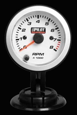 Pilot Zusatzinstrument Drehzahlmesser 0-8000 Umin für 3-4-6 Zylinder 52mm 7-Farben 12V