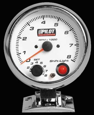 Pilot Zusatzinstrument Drehzahlmesser 0-8000 Umin für 3-4-6 Zylinder 95mm 7-Farben 12V