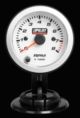 Pilot Zusatzinstrument Drehzahlmesser 0-8000 Umin für 2-4-6 Zylinder 52mm 7-Farben 12V