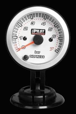 Pilot Zusatzinstrument Race Pro Öldruckanzeige 52mm 7-Farben 12V