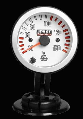 Pilot Zusatzinstrument Race Pro Ölthermometer 52mm 7-Farben 12V