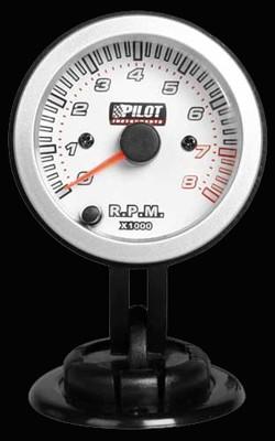 Pilot Zusatzinstrument Race Pro Drehzahlmesser 3-4-6 Zylinder 52mm 7-Farben 12V