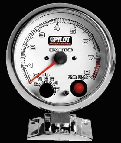 Pilot Zusatzinstrument Race Pro Drehzahlmesser 3-4-6 Zylinder 95mm 7-Farben 12V