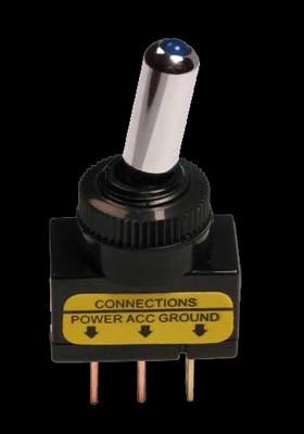 Pilot Schalter mit blauer LED Beleuchtung 12V 20A