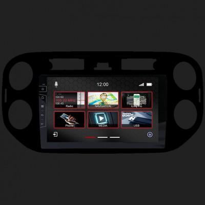 "DYNAVIN 9""(22,8cm) Multimediagerät ""X-Series"" für VW Golf 5 plus(10-17) Tiguan(10-17) in schwarz inkl. i-GO Navisoftware"