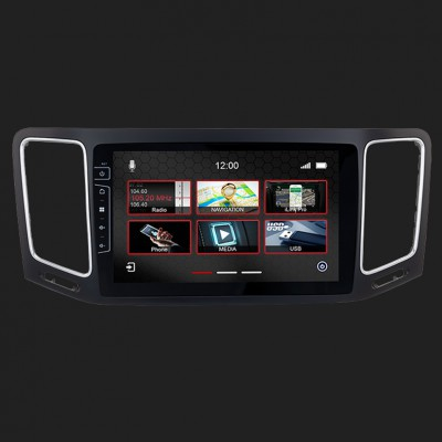 "DYNAVIN 9""(22,8cm) Multimediagerät ""X-Series"" für VW Sharan ab 2010, Seat Alhambra ab 2010 inkl. i-GO Navisoftware"