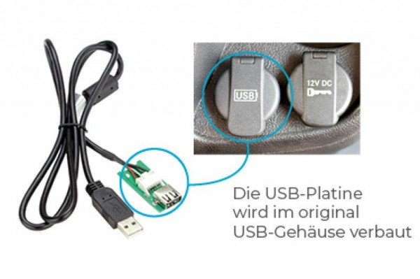 DYNAVIN USB-Umbaukit für Fiat Ducato, Citroën Jumper, Peugeot Boxer mit Aftermarket Radios
