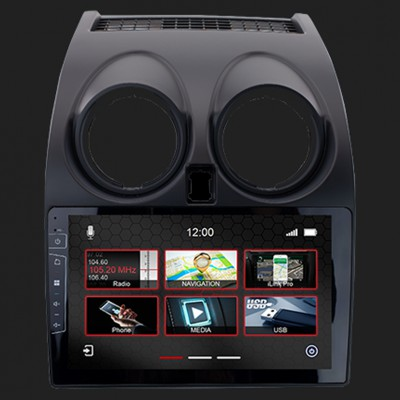 "DYNAVIN 10""(25,4cm) Multimediagerät ""X-Series"" für Nissan Qashqai(14-18) X-Trail(14-18) inkl. i-GO Navisoftware"
