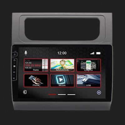 "DYNAVIN 10""(25,4cm) Multimediagerät ""X-Series"" für VW Touran 2011-2015 in silber inkl. i-GO Navisoftware"