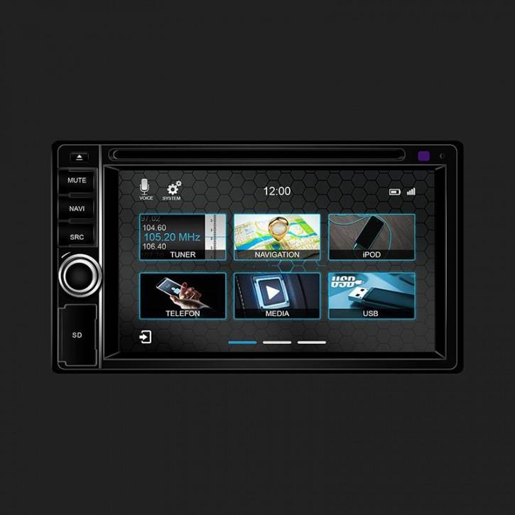 DYNAVIN 2-DIN Multimediagerät N7 Universal inkl. i-GO Truck- /Caravansoftware (12V) und 16GB MicroSD
