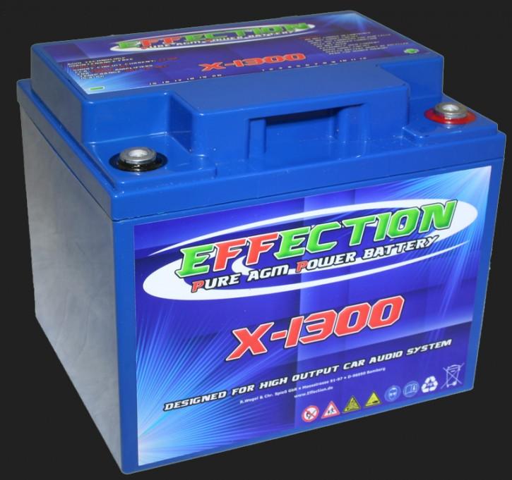 """Effection 12V AGM Batterie """"X-1300"""" (44 Ampere)"""