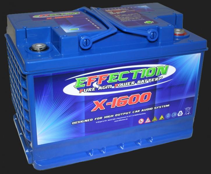 """Effection 12V AGM Batterie """"X-1600"""" (63 Ampere)"""
