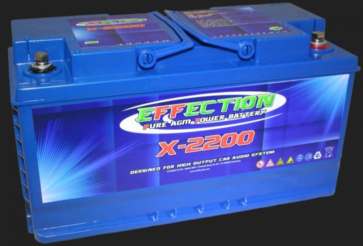 """Effection 12V AGM Batterie """"X-2200"""" (84 Ampere)"""