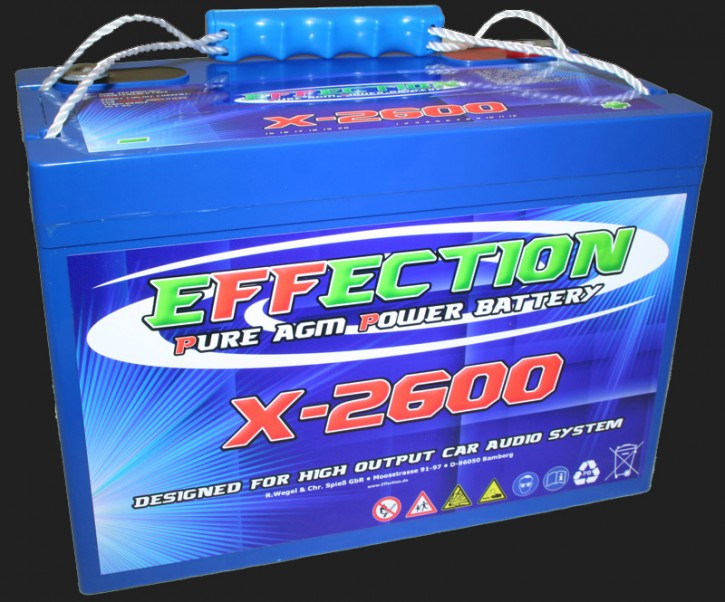"""Effection 12V AGM Batterie """"X-2600"""" (105 Ampere)"""