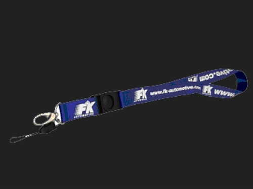FK Schlüsselband incl. Handybändchen, blau/ weiß