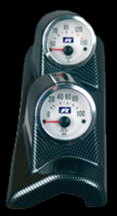 FK 2-er Set 52mm Öltemp + Öldruck links in carbon (Serie4)