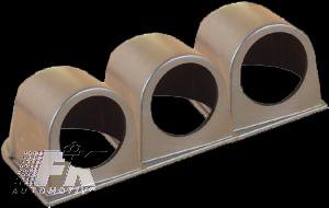 FK Aufbaurahmen schwarz für 3 Zusatzinstrumente
