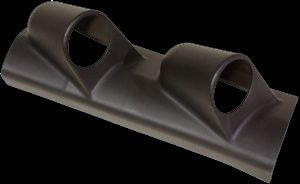 FK Anbaurahmen links schwarz für 2 Zusatzinstrumente