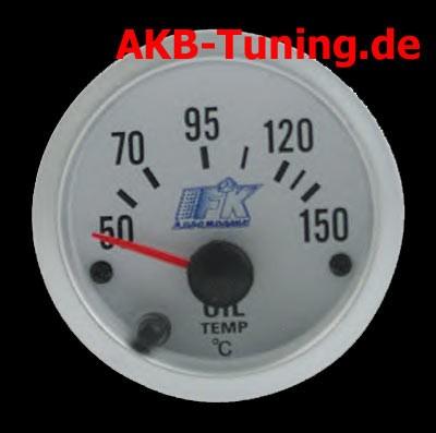 FK Zusatzinstrument Öltemperatur 52mm/weiß (S.7)