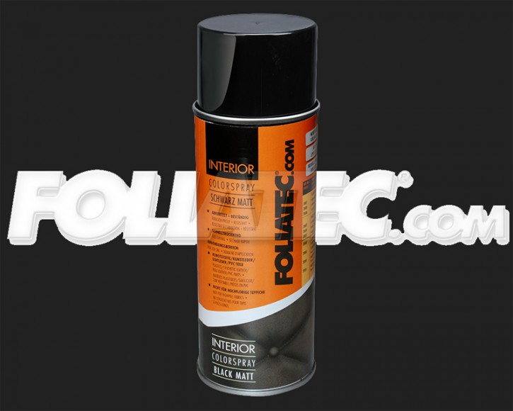 FOLIATEC INTERIOR Color Spray in schwarz matt (400 ml)