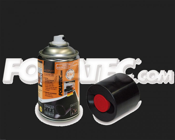 FOLIATEC Auspuff 2K Lackspray in silber metallic glänzend (250 ml)