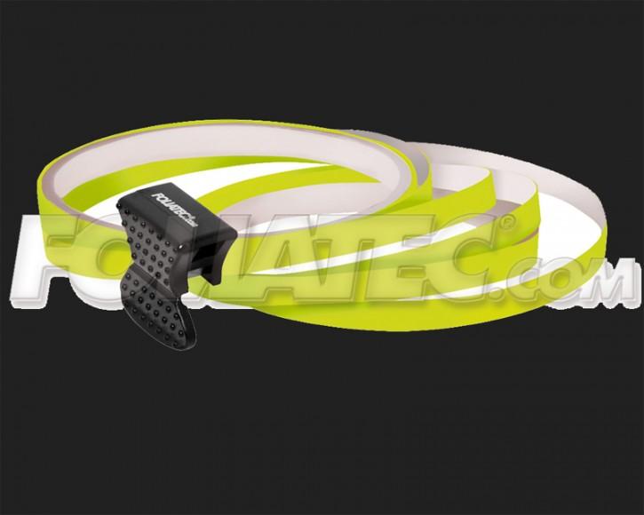 Foliatec Universal PIN Striping Felgen Design für 4 PKW Felgen inkl. Montagetool in neon gelb