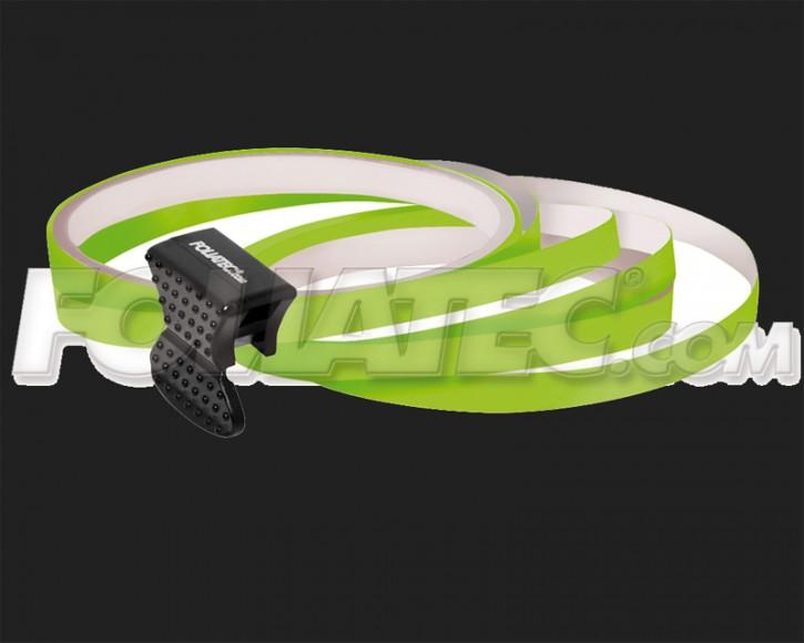 Foliatec Universal PIN Striping Felgen Design für 4 PKW Felgen inkl. Montagetool in neon grün