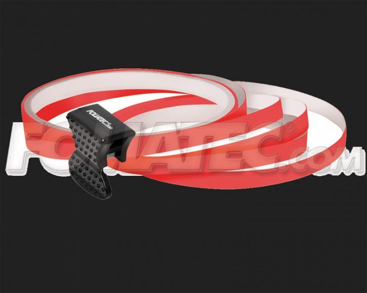 Foliatec Universal PIN Striping Felgen Design für 4 PKW Felgen inkl. Montagetool in neon rot