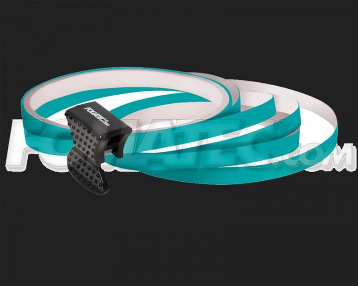 Foliatec Universal PIN Striping Felgen Design für 4 PKW Felgen inkl. Montagetool in türkis