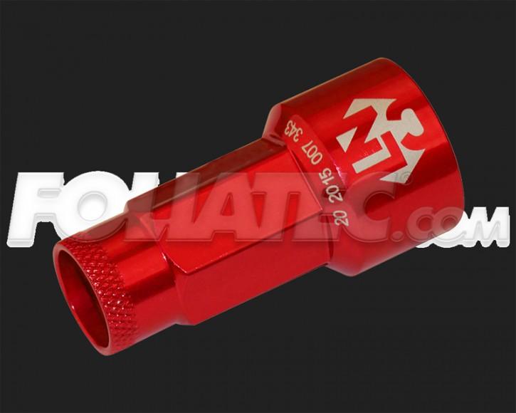 FOLIATEC LugNuzzCover Set (20 Stück) in ROT für Schlüsselweite 17mm