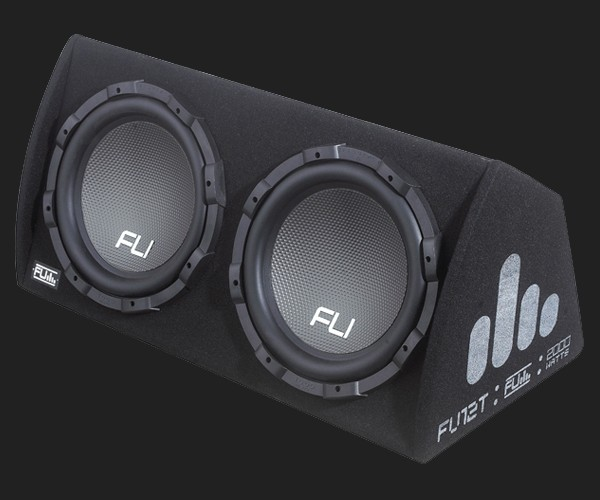 "FU aktive 12"" TWIN (2 X 30cm) Subwooferkiste MAX.Power 2000Watt"