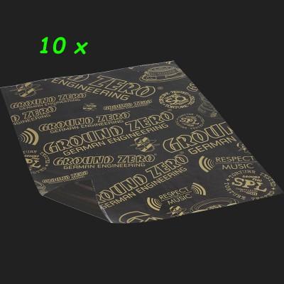 "GROUND ZERO Alubutyl ""GZDM 3750AB-GOLD"" Shop Pack (10 x 750x500x2,2mm) 3,75m²"