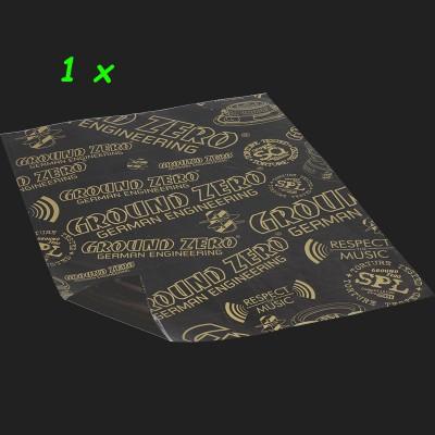 """GROUND ZERO Alubutyl """"GZDM 3750AB-GOLD"""" One Piece (1 x 750x500x2,2mm) 0,375m²"""