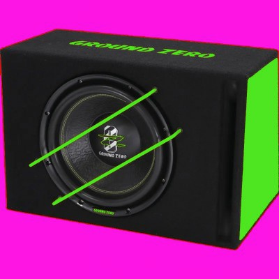 "GROUND ZERO IRIDIUM ""GZIB 3000XSPL GREEN"" 30cm Bassreflex Gehäusesubwoofer 1000W"