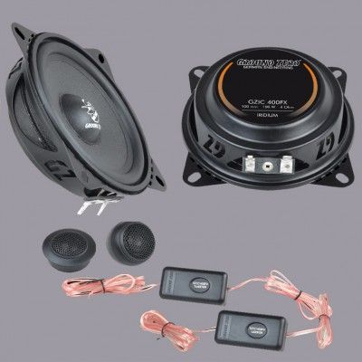 "GROUND ZERO IRIDIUM ""GZIC 400FX"" 100 mm 2-Wege Flach-Komponenten-Lautsprechersystem"