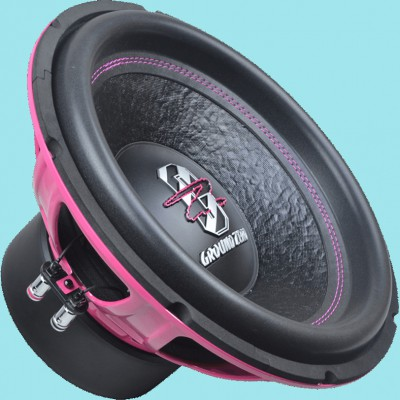 "GROUND ZERO IRIDIUM ""GZIW 12SPL Pink Edition"" 30 cm Subwoofer - 2 x 2 Ohm - 1000W"
