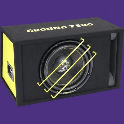 """GROUND ZERO RADIOACTIVE """"GZRB 30SPL"""" 30cm Bassreflex Gehäusesubwoofer 1350W"""
